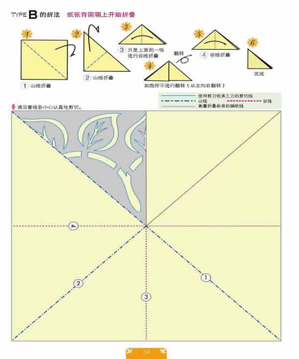 窗花剪纸折法步骤图