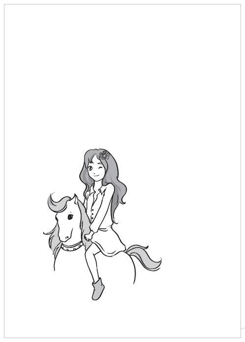 女孩经典素材手绘励志